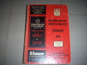Hamburg, Hamburger Adressbuch Band III von 1960 - Einwohnerbuch