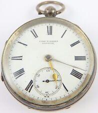 Reloj De Bolsillo Antiguo Ley 1897 Plata John Forrest Londres necesita atención