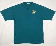 Vtg Yogi Bear In The Smokies Mens XL Teal Embroidered S/S Polo Shirt D9