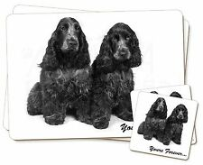 Blue Roan Cockers 'Yours Forever' Twin 2x Placemats+2x Coasters Set i, AD-SC1YPC