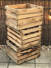 FREE POST !!! Apple Crates Wooden Fruit Crates Rustic Vintage Home Decor