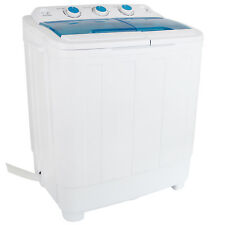 17LBS Mini Compact Portable Washing Machine Twin Tub Laundry Spin Dryer Washer