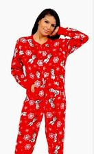 Disney Frozen Footed Pajamas Olaf Winter Snow Holiday Red XXL HTF NWT LAST ONE