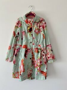 Ted Baker Girls Floral Patterned Raincoat Anorak Age 7