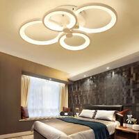 US Modern Acrylic Chandelier LED Ceiling Light Lamp for Living Room Bedroom w/RC