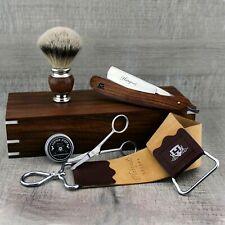 Professional Barber Salon Men Shaving Complete Kit Wooden Shaving Set HARYALI