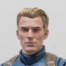 1:12 Painted oldboy Captain America  head sculpt SHF chris evans