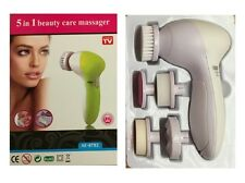 Portable 5 in 1 Electric Facial Cleaner Face Skin Care Brush Massager Scrubber