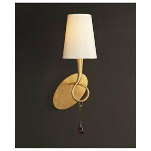 Wandleuchte Klassisch Gold Mit Lampenschirm Creme