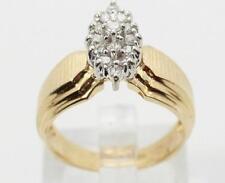 14K Yellow Gold Diamond Ladies Engagement Ring 0.45ctw 5 grams Size 6.5