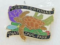 Vintage Dry Tortugas National Park Sea Turtle Enamel Metal Lapel Pin