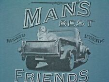 "OUTDOOR LIFE, SHIRT, ""MAN'S BEST FRIENDS"", DOG AND PICK UP, L"