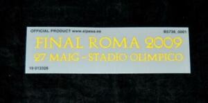 Official Barcelona final 2009 Roma Football match detail patch manchester united