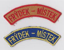 SCOUTS OF CZECH REPUBLIC - FRYDEK-MISTEK SCOUT SEA SCOUT SHOULDER PATCH (2 VAR)