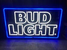 (L@@K) Bud Light Beer Light Up LED Sign Game Room Man Cave Anheuser-Busch NEW