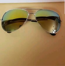 MIRROR Aviator Sunglasses Gold Mirror Lenses and Gold Frames