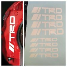 8 pc set TRD Brake Caliper Vinyl Sticker Decals Logo Graphics Emblem Toyota TRD