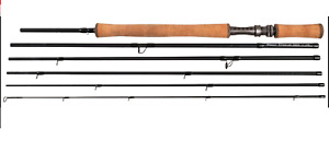 SHAKEASPEARE: 11ft 7/8 Oracle EXP Switch 6 Piece Segement Travel Fly Fishing Rod