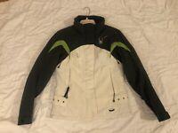 Spyder Womens Thinsulate Insulated Ski Jacket White/Green Size 6