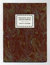 Nancy CUNARD / Thoughts About Ronald Firbank First Edition 1971