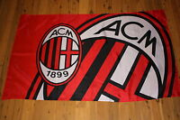 A.C Milan F.C Flag Football Soccer Milano Italy Italia Serie A I Rosioneri NEW