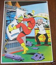 Vintage 1978 CAPTAIN MARVEL Pin up Poster DC Shazam