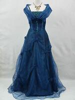 Cherlone Satin Blue Ballgown Wedding/Evening Formal Prom Bridesmaid Gown Dress