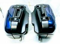 Triumph 955i Sprint 99-10 Pannier Hard Case Saddlebag Dark Metallic Blue Touring