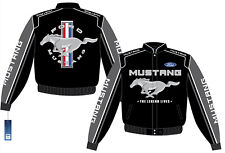 Mustang Logo Jacket - Black - High Quality Embroidery and FREE USA SHIPPING!