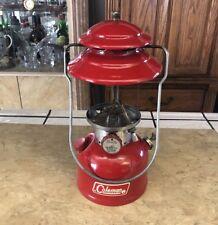 Vintage 1971 Coleman 200A Red Lantern - Needs Globe