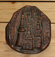 Vintage Russian Moscow Kremlin towers metal souvenir paper weight