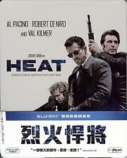 HEAT 2-Disc Limited Edition SteelBook with 1/4 SlipCover Region A Taiwan Import