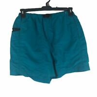 """The North Face Mens Medium Turquoise Blue Hiking Trail Attached Brief 5"""" Shorts"""