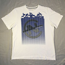 Nautica Competition White And Blue Short Sleeve Soft Cotton T-Shirt Mens Size XL
