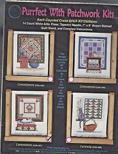 Cross My Heart Purrfect w/Patchwork Counted CrossStitch Kit CSK497, Vintage 1998