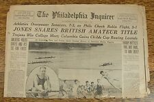 Bobby Jones Wins 1930 British Amateur Newspaper~1st Leg Of Historic Grand Slam!