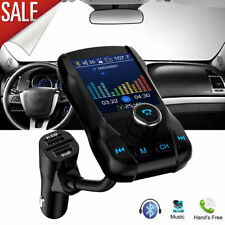 Car Kit Wireless Bluetooth Fm Transmitter Aux Support 3 Usb Flash Drive Tf Card