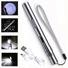 Pocket Mini Newest Q5 500lm Flashlight Torch USB Lamp LED Rechargeable Pen Size