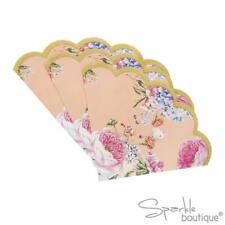 TRULY SCRUMPTIOUS SCALLOPED EDGE NAPKINS -Vintage Style / Floral -Tea Party -TS8