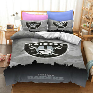 Oakland Raiders City View Bedding Set 3PC Duvet Cover Pillowcase Comforter Cover