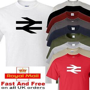 British rail t shirt logo trains model railways BR white arrows
