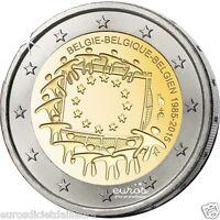 """2 euros commémorative BELGIQUE 2015 """"30ème anniversaire du drapeau européen"""" UNC"""