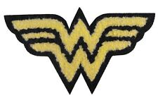 "DC Comics 4.25"" Wonder Woman Logo Chenille Embroidered Iron-On Patch P-DC-0033"