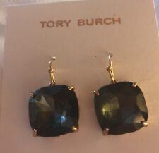 in Green New Retail $75 Tory Burch Tory-Set Stone Drop Earrings