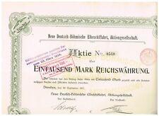 Neue Deutsch-Böhmische Elbeschiffahrt, AG, Dresden 1907, 1000 Mark