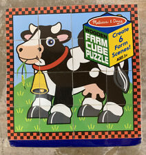 Farm Cube 6 Puzzles in 1 - Ages 3+ by Melissa & Doug® NEW Sealed