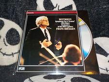 Beethoven Symphony no 3 Eroica Frans Bruggen Laserdisc LD Free Ship $30 Orders