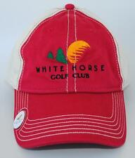 WHITE HORSE GOLF CLUB Kingston WA with Attached Pin Adjustable Baseball Cap Hat