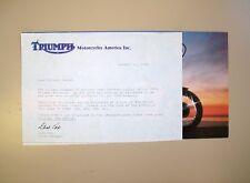 '79 TRIUMPH T140E Sales literature/brochure w/factory letter (NOS-not a reprint)