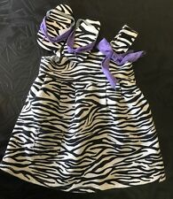 Authentic American Girl Doll Clothes REBECCA ZEBRA Patterned Dress Set